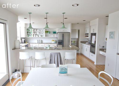 KitchenKitchens Decor, Mint Green, Kitchens Design, Kitchens Remodeling, Kitchens Inspiration, Kitchens Ideas, Design Sponge, Kitchens Makeovers, White Kitchens