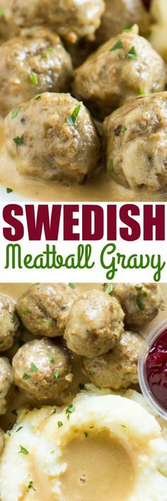 This Swedish Meatball Gravy is SO YUMMY. I just toss in frozen meatballs!