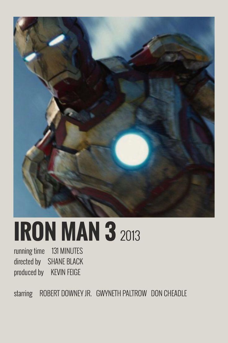 Iron man 3 polaroid poster in 2020 movie poster wall
