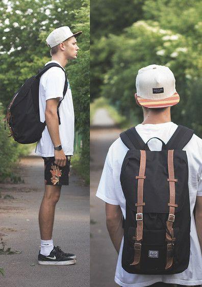 Herschel Bag, Quiet Life Cap, Nike Shoe, Shorts