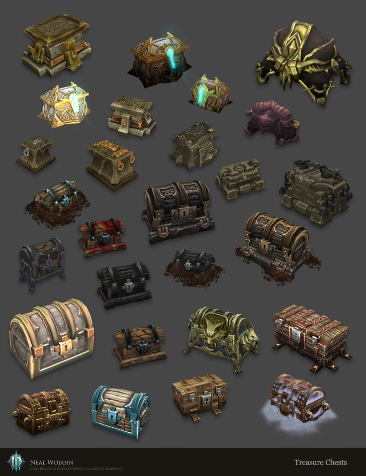 ArtStation - Diablo 3 Chests, Neal Wojahn