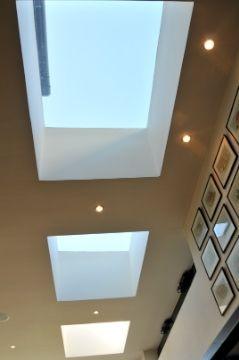 Aluminium rooflights or skylights. Product used: Sunparadise Hawai80 roof glazing