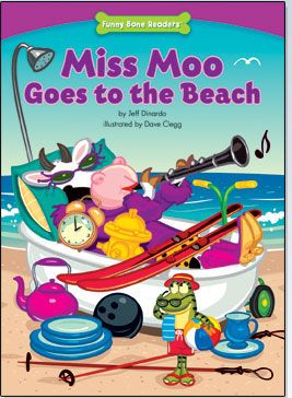 Miss Moo Goes to the Beach: Humorous story about being responsible, $3.95
