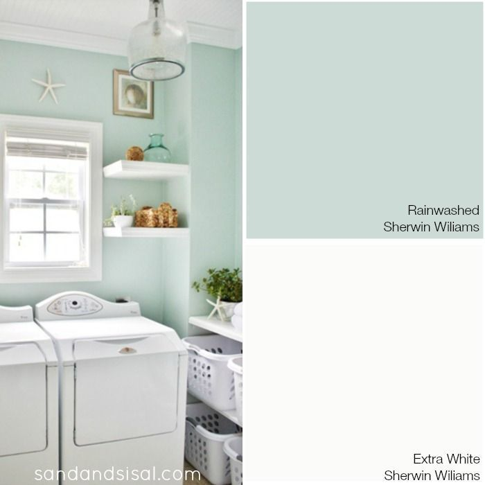 Choosing a Coastal Color Palette - Rainwashed - Sherwin Williams + more coastal paint color combinations.