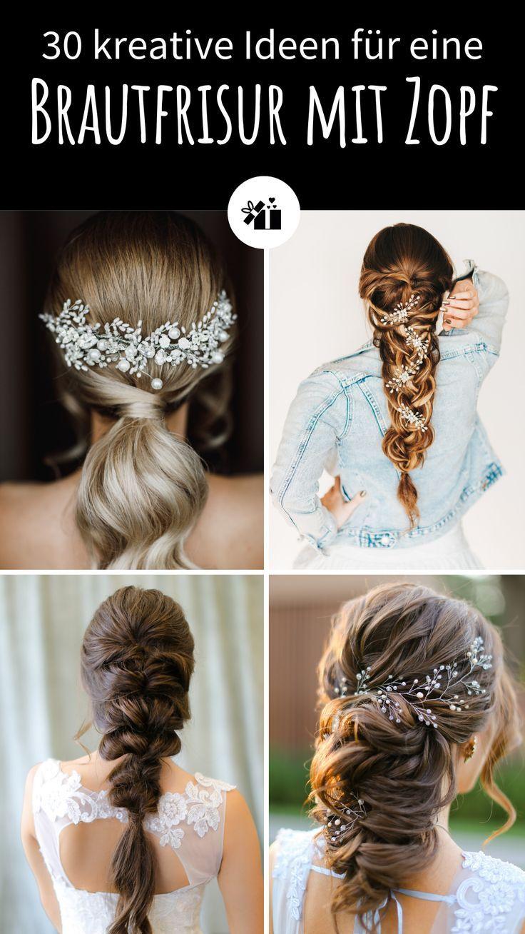 30 Stilvolle Ideen Fur Eine Brautfrisur Mit Zopf Hochzeitskiste Brautfrisur Brautfrisuren Zopf Hochzeitsfrisur Zopf