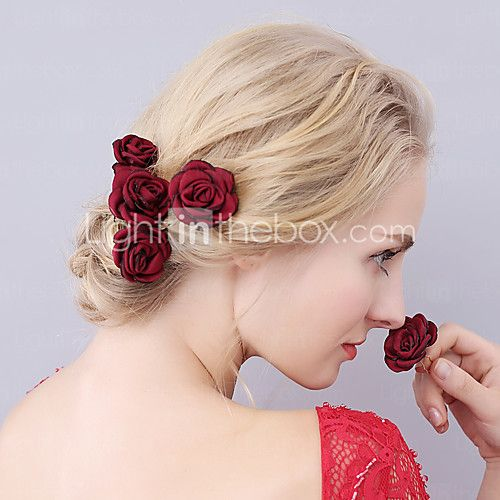 Women's Fabric Headpiece-Wedding Special Occasion Hair Pin 1 Piece 2017 - kr.17