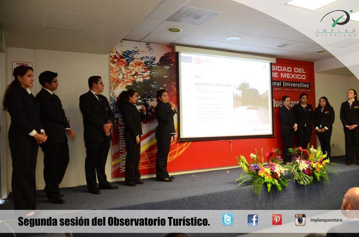 SEGUNDA SESIÓN DEL OBSERVATORIO TURÍSTICO.  Se llevó a cabo la presentación de avances de los trabajos en el Inventario Turístico, a cargo de los alumnos de Hospitalidad, Gastronomía y Turísmo de la UVM, campus Querétaro.