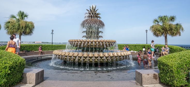 Pineapple Fountain - Fontaine Ananas -  Charleston Caroline du Sud