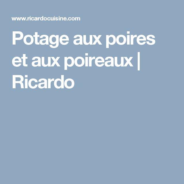 Potage aux poires et aux poireaux | Ricardo