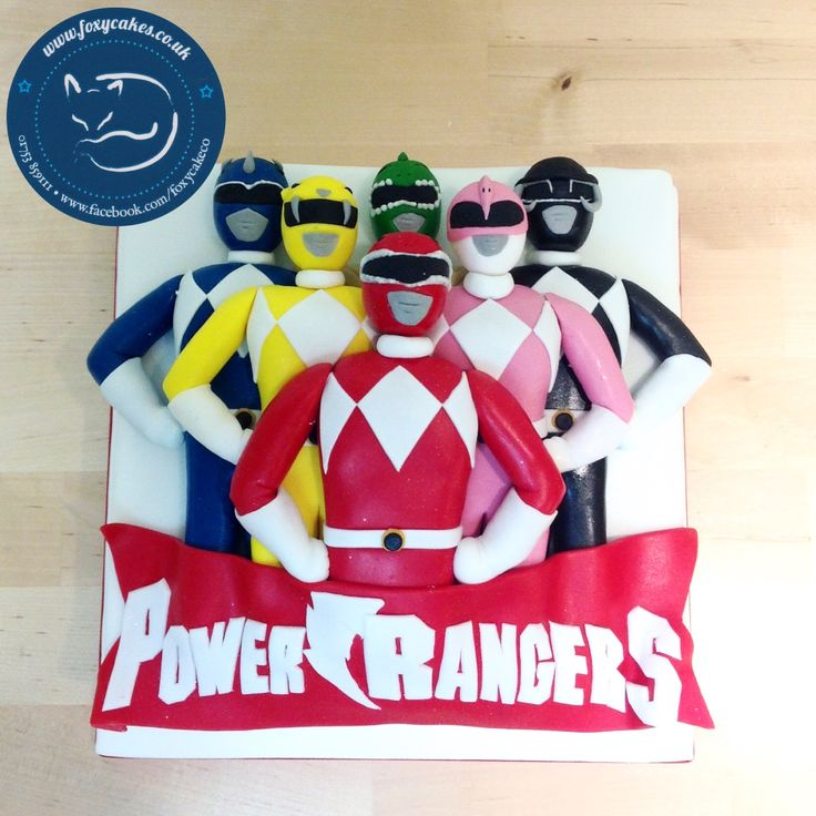 Power Rangers cake, made by The Foxy Cake Co!