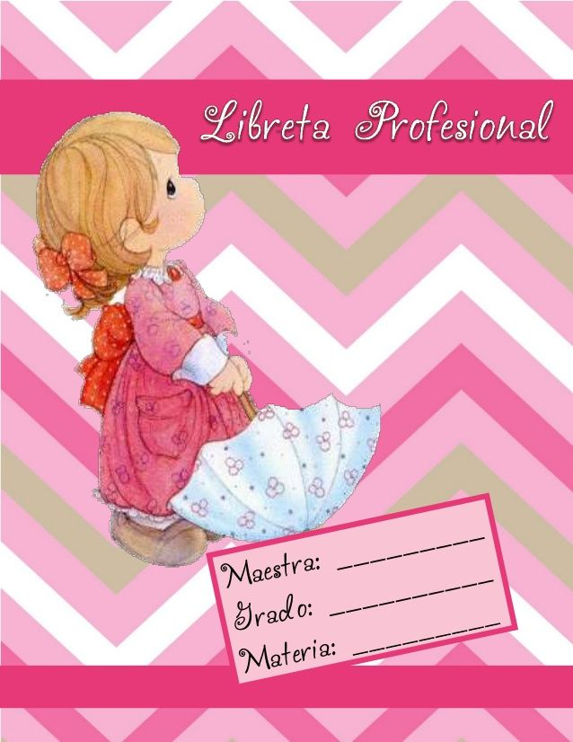 Libreta profesional 2014 Precius Moments by Olga Martínez via slideshare