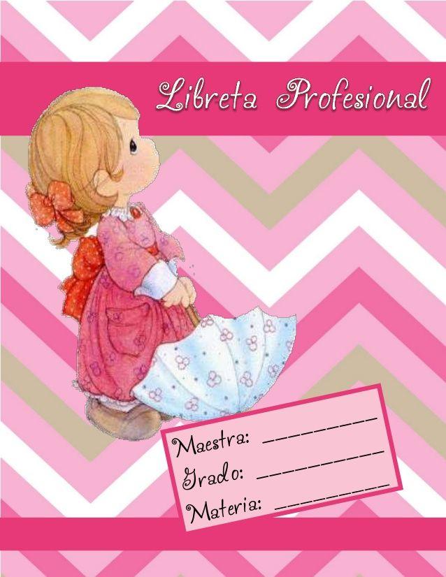 Libreta profesional 2014 Precius Moments by Olga Martínez via slideshare