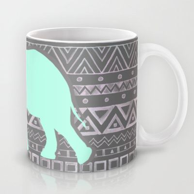 This is the greatest!! Mint Elephant Mug by Sunkissed Laughter - $15.00