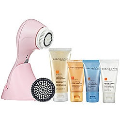 Clarisonic Pink Plus - supposed to work wonders.  I'll keep you posted.