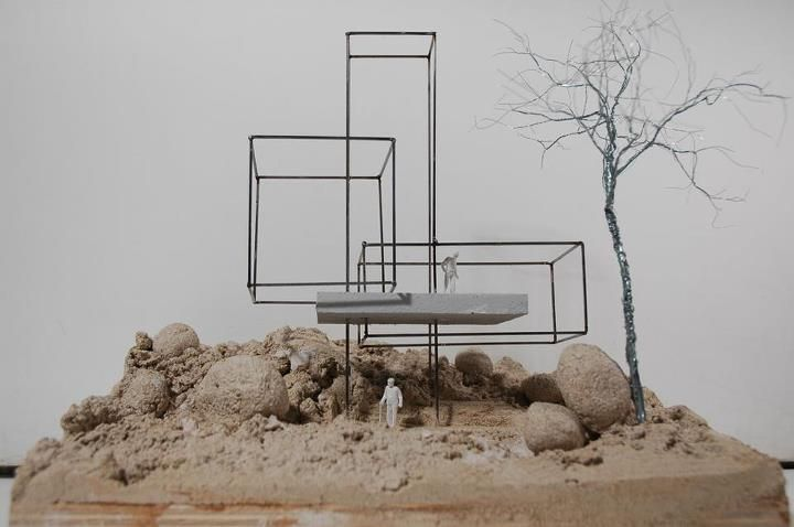 archimodels: © anthony gormley + david chipperfield - sculpture for the subjective experience of architecture (kivik art centre) - osterlen, sweden - 2008