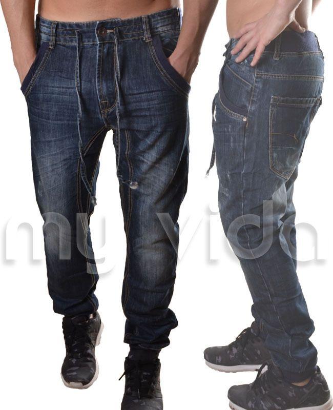 Jeans uomo tuta comfort pantaloni casual denim sportivo 28 30 32 34 36 J10