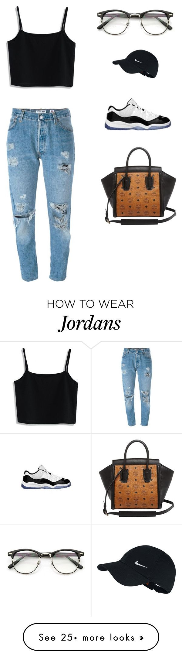 """""""Just a little something """" by doitlikedreaa on Polyvore featuring Levi's, Chicwish, NIKE, Retrò and MCM"""