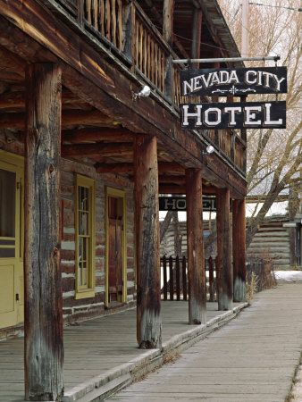 Ghost Town of Nevada City, Montana, USA                                                                                                                                                      More
