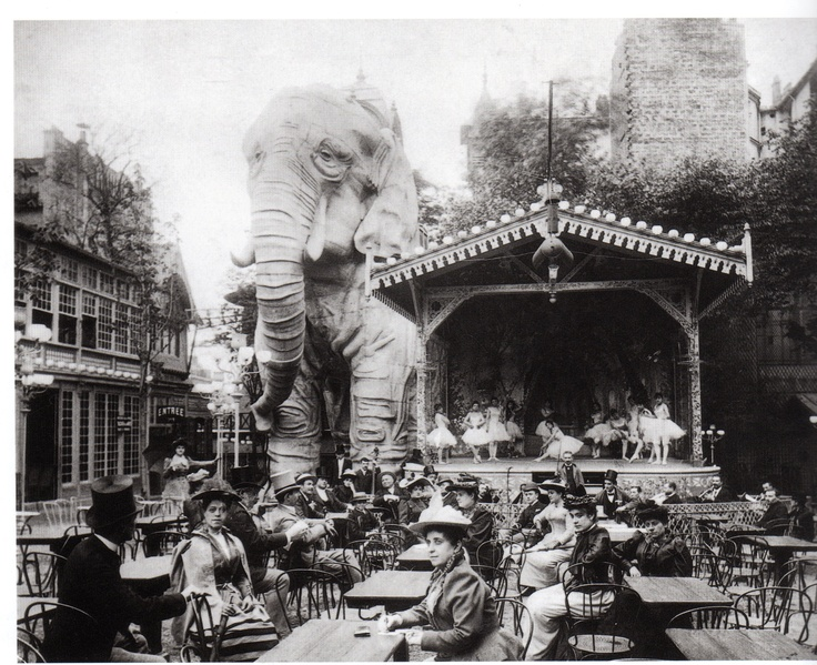 Le Moulin Rouge, Paris, Photograph: (1899).    This became a spring board for Act two - I would have loved to include the Elephant but Baz Luhrmann got there before me.