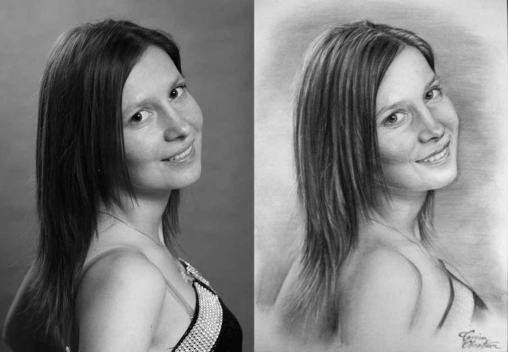 Desen după Imagine 25 - Desen în Creion de Corina Olosutean // Drawing from Picture 25 - Pencil Drawing by Corina Olosutean