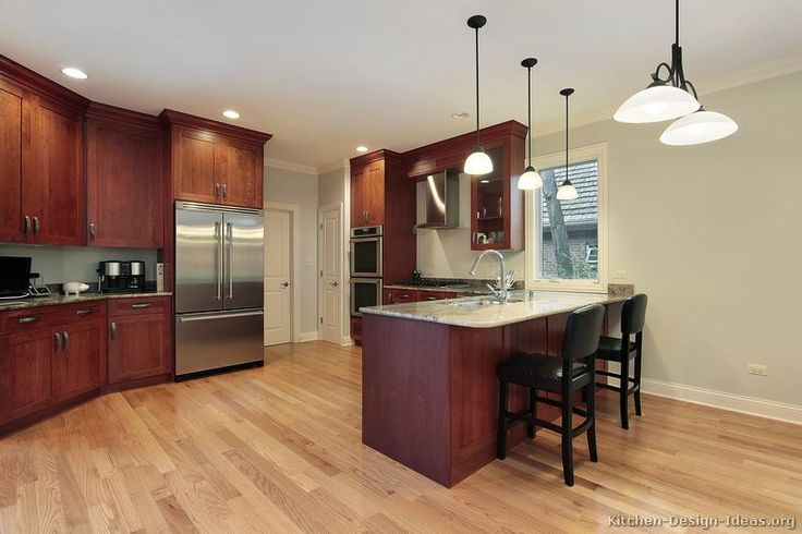 Pictures Kitchens Traditional Dark Wood Cherry Color