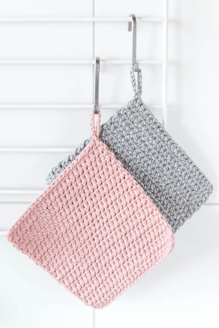 Topflappen Häkeln Für Anfänger Crochet Knit Pinterest