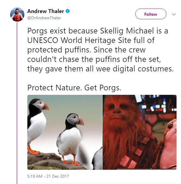 I have been saying this the whole time. They didn't make porgs just so they could have cute animals around.