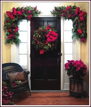 swags wreaths christmas | This collection is designed for those who wish to add an entrance of ...
