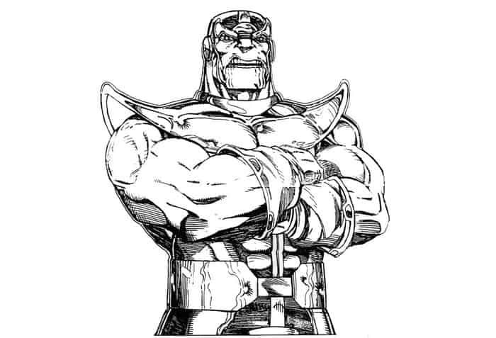 avengers thanos coloring pages from