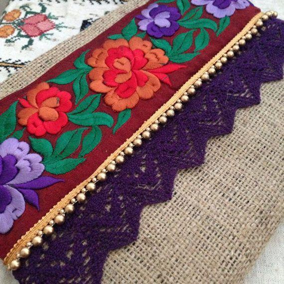 Floral Clutch Bohemian Clutch Boho Bag Fashion by BOHOCHICBYDAMLA - designer handbags online, women's designer handbags sale, fashion handbags for sale