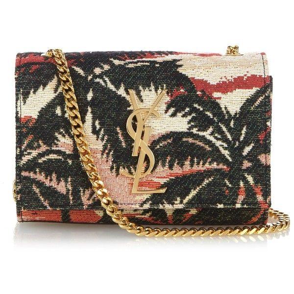 Saint Laurent Monogram small palm-jacquard cross-body bag ($1,550 ...