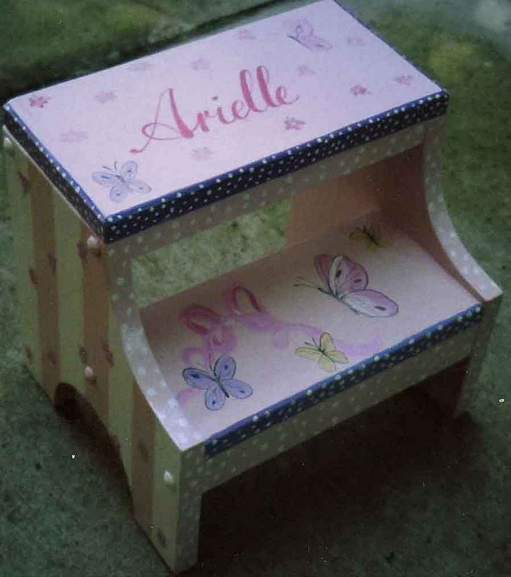 Butterfly step stool hand painted step stool kids painted step stool personalized step & 40 best hand painted step stools images on Pinterest | Hand ... islam-shia.org