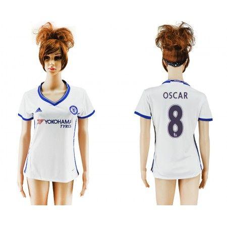 Chelsea Fotbollskläder Kvinnor 16-17 #Oscar Emboaba 8 TRödjeställ Kortärmad,259,28KR,shirtshopservice@gmail.com