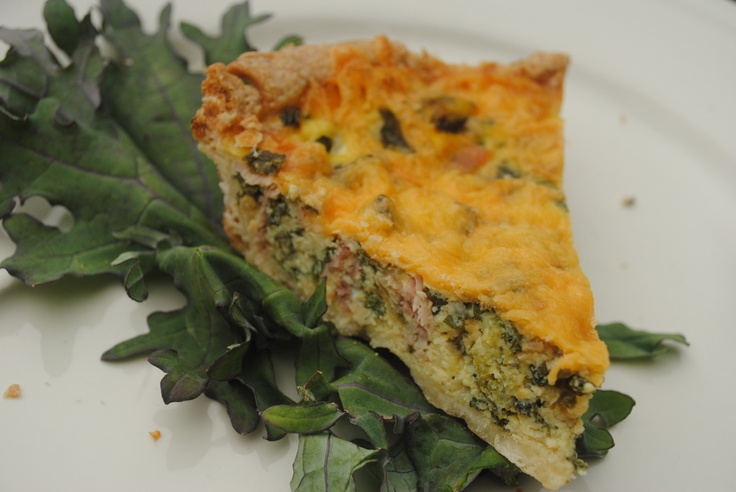 Simple Roots Farm | Kale & Ham Quiche | Food and drinks | Pinterest