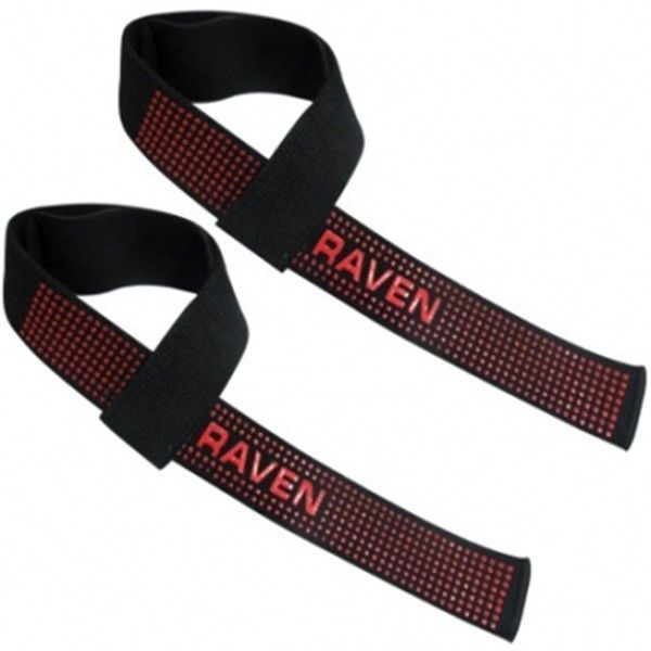 RAVEN Lifting Strap Single Tail red silicon 1pair Boxing kickboxing MMA Gloves #Raven