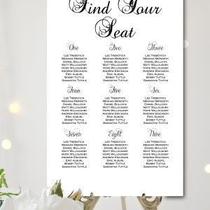 black and white fairytale wedding chart find your seat wedding templateswedding seating