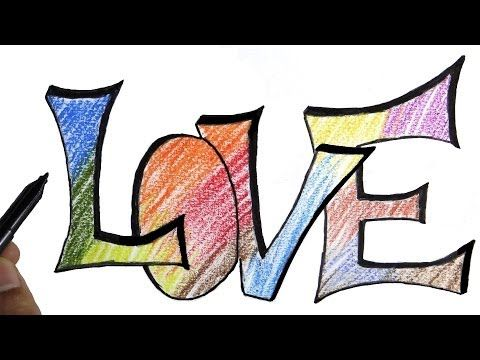 how to write love in 3d