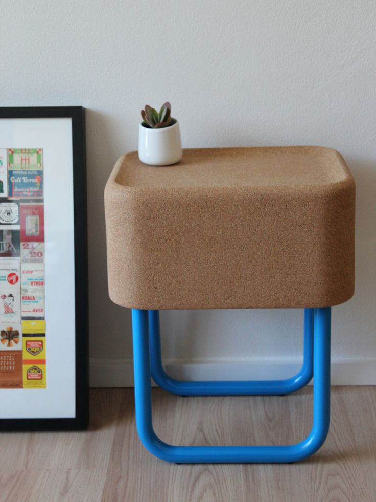 Tiny Kiosk Alfy Side Table   Cool Cork Furniture For Kids