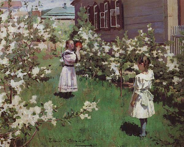 """Виктор Борисов-Мусатов. """"Майские цветы""""1894г"""
