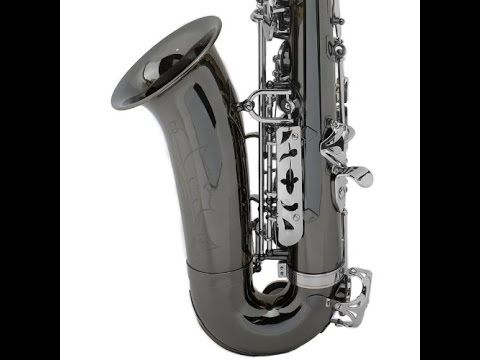 Saxophones for Sale - Mendini by Cecilio MAS-BNN+92D+PB Black Nickel Plated
