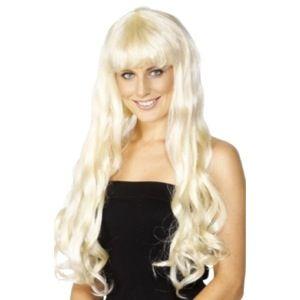 Paryk blondt - langt lyst hår. Super sød paryk til udklædning eller for sjov. #paryk