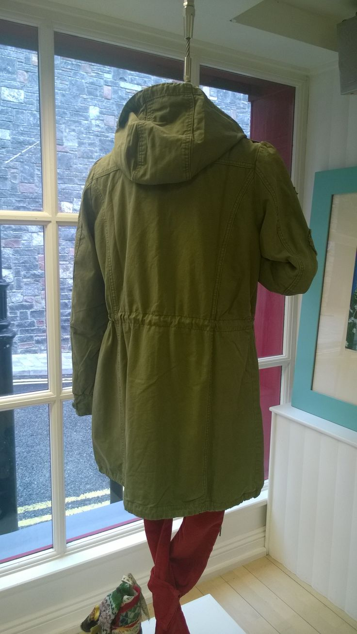 Odd Molly Parka coat,its name is Honey Jacket,the colour is Martial Green. A great cover up for the chilly season ahead.