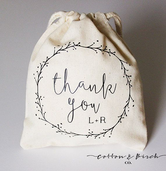 Set of 20 Personalized Wedding Favor Bags / by CottonAndBirchCo