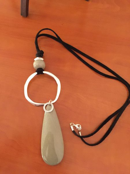 Collar largo,  Ref. 1303 de My designs por DaWanda.com                                                                                                                                                                                 Más