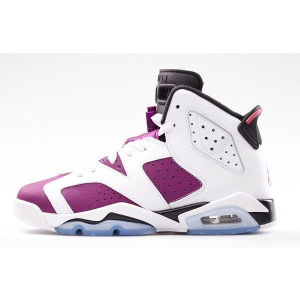 sports shoes 0a628 6b0a1 Girls Air Jordan 6 BRIGHT GRAPE Official Photos ( 120) ❤ liked on Polyvore  featuring shoes, jordans, sneakers and footwear   Work Outfits   Nike air  jordan ...