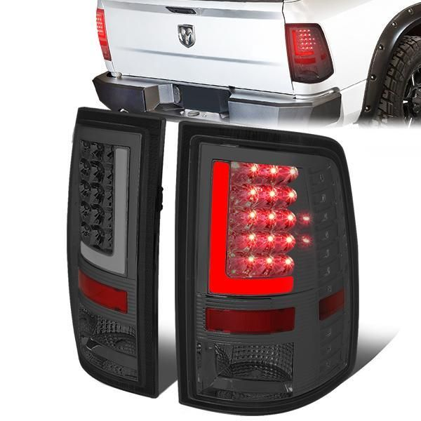 09 17 Dodge Ram 1500 2500 3500 Led L Bar Rear Brake Tail Lights Smoked Tail Light Ram 1500 Dodge Ram 1500