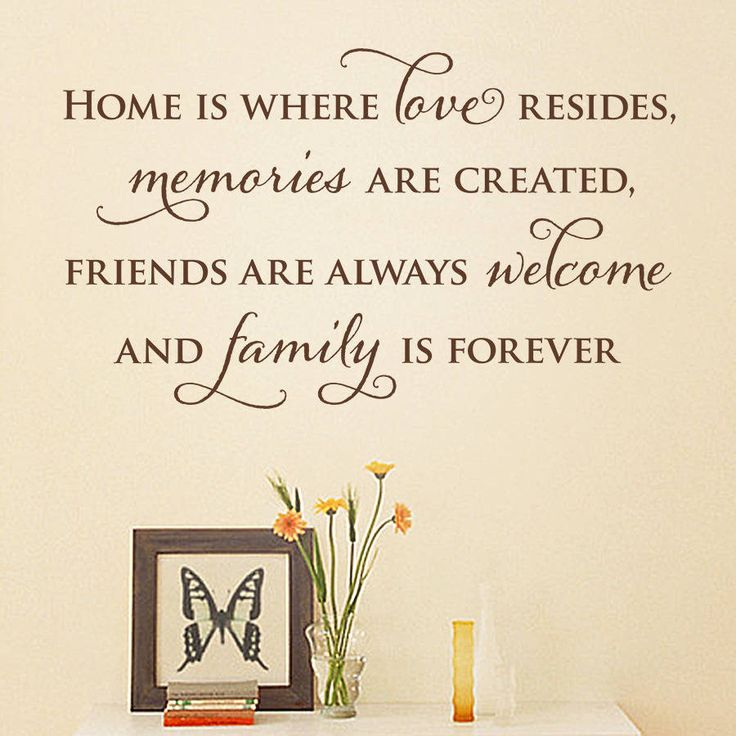 home is quote wall sticker from notonthehighstreetcom - Home Decor Quotes