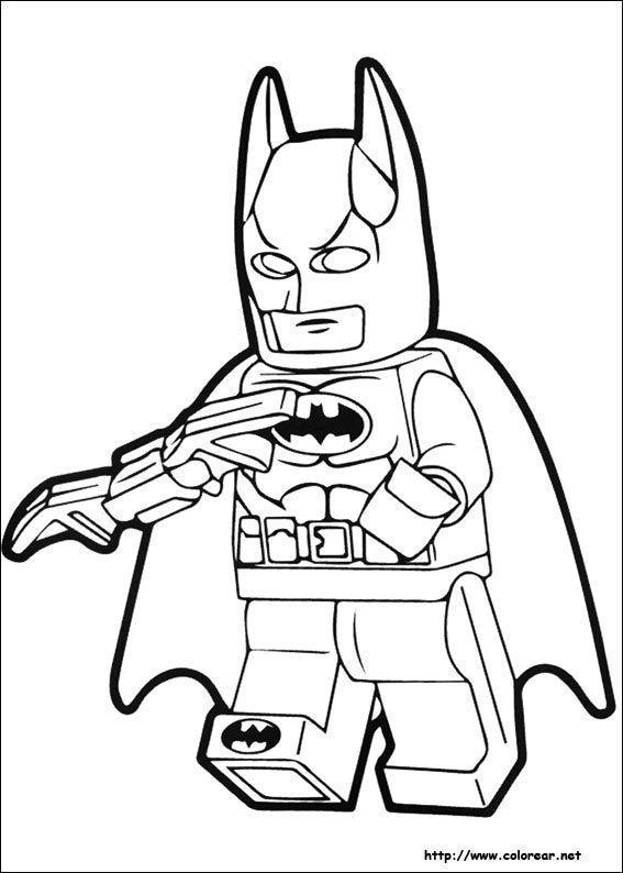 Lego Batman Para Colorear Superhero Coloring Pages