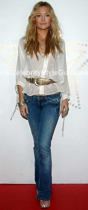 Kate Hudson Style and Fashion - Grass Topanga 5 Pocket Bootcut in Sand on Celebrity Style Guide