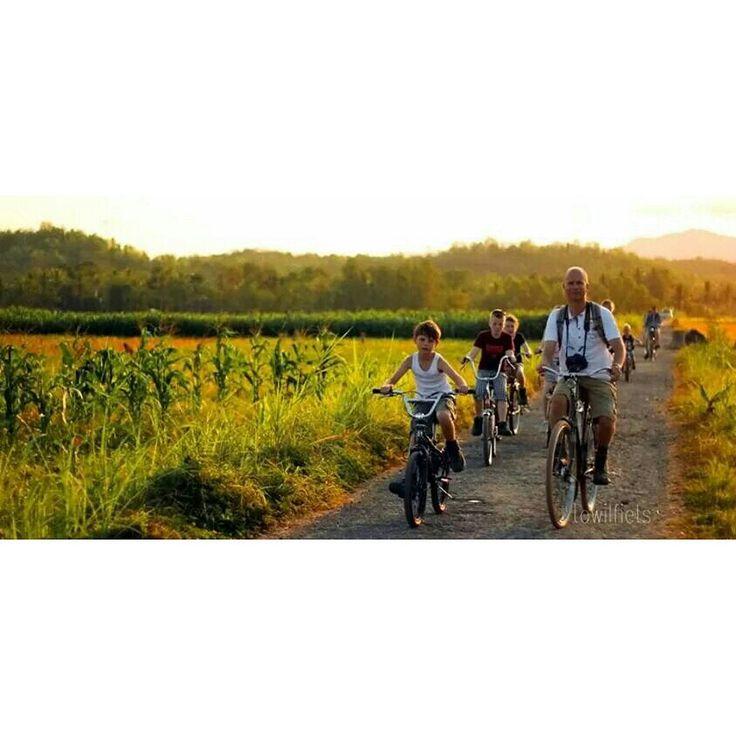 Sunset bike at Sentolo
